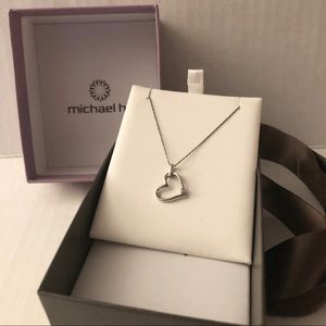 Jewelry - NEW 💥 MICHAEL HILL SILVER HEART NECKLACE